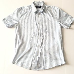 TOPMAN Striped Button Down Shirt Size Large